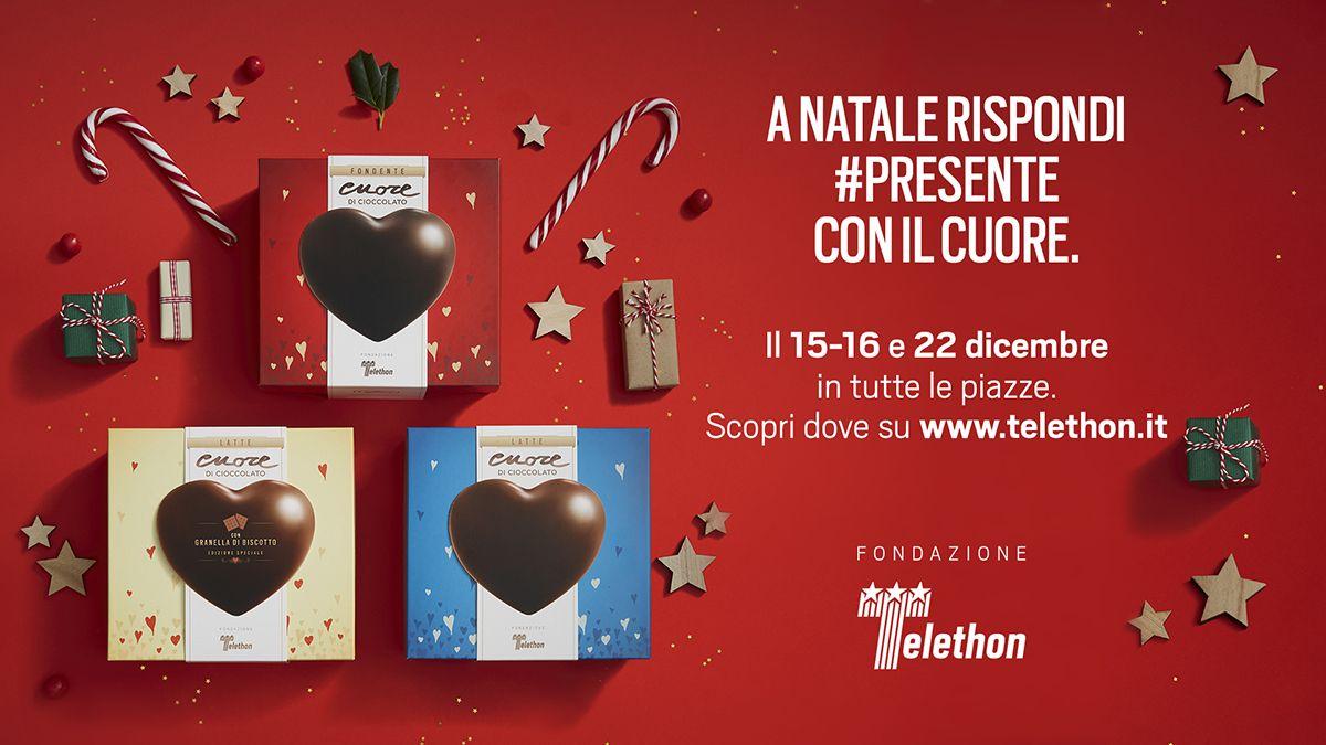 A dicembre Fondazione Telethon nelle piazze italiane con il Cuore di cioccolato