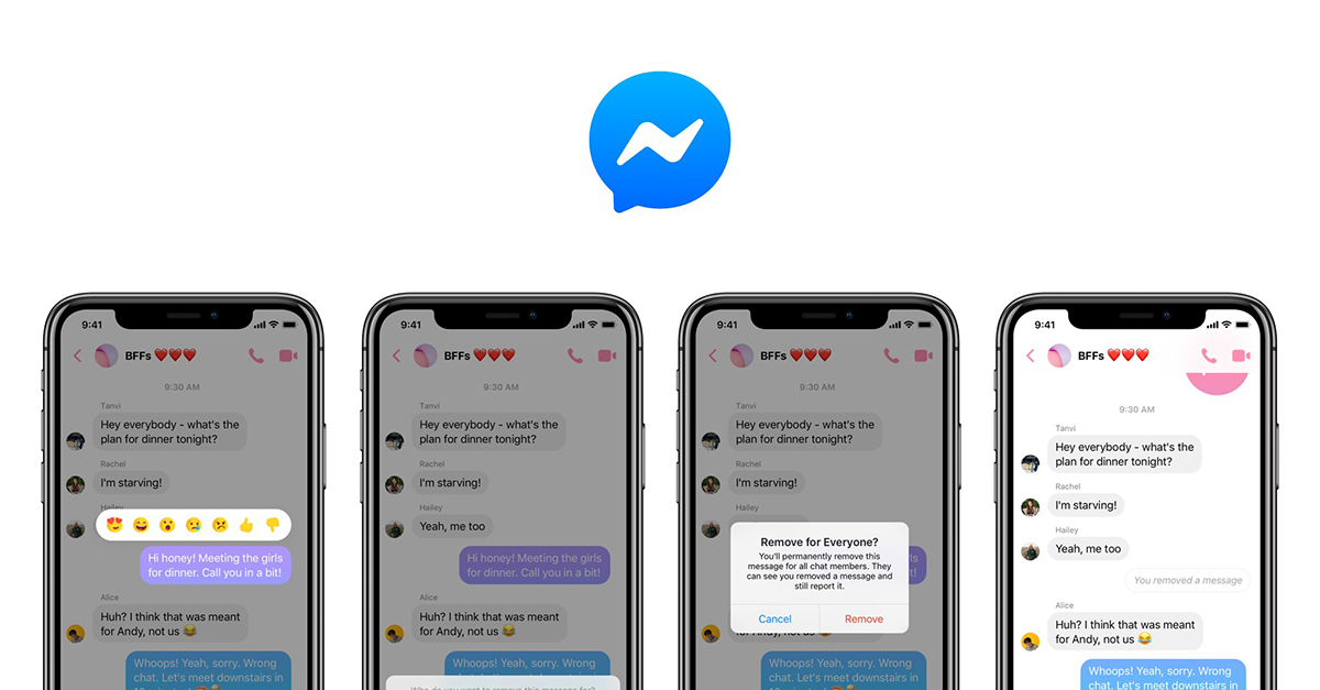 Facebook Messenger come WhatsApp: ora si possono eliminare i messaggi dopo l'invio