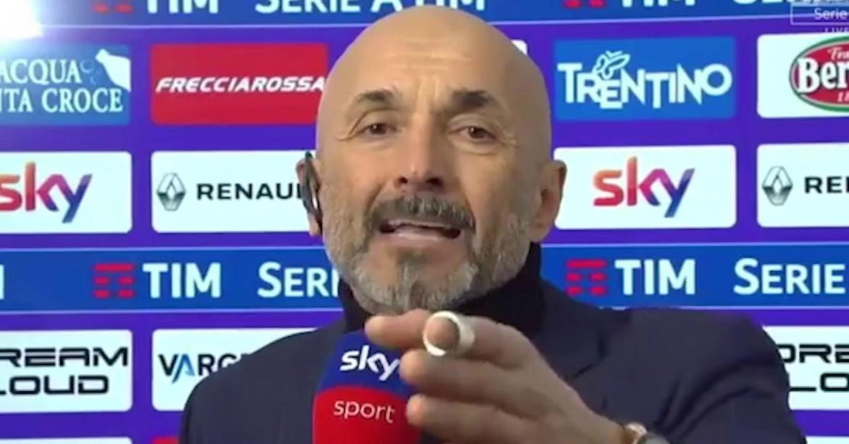 Fiorentina-Inter, Spalletti furioso dopo il rigore contro: lo sfogo con Caressa
