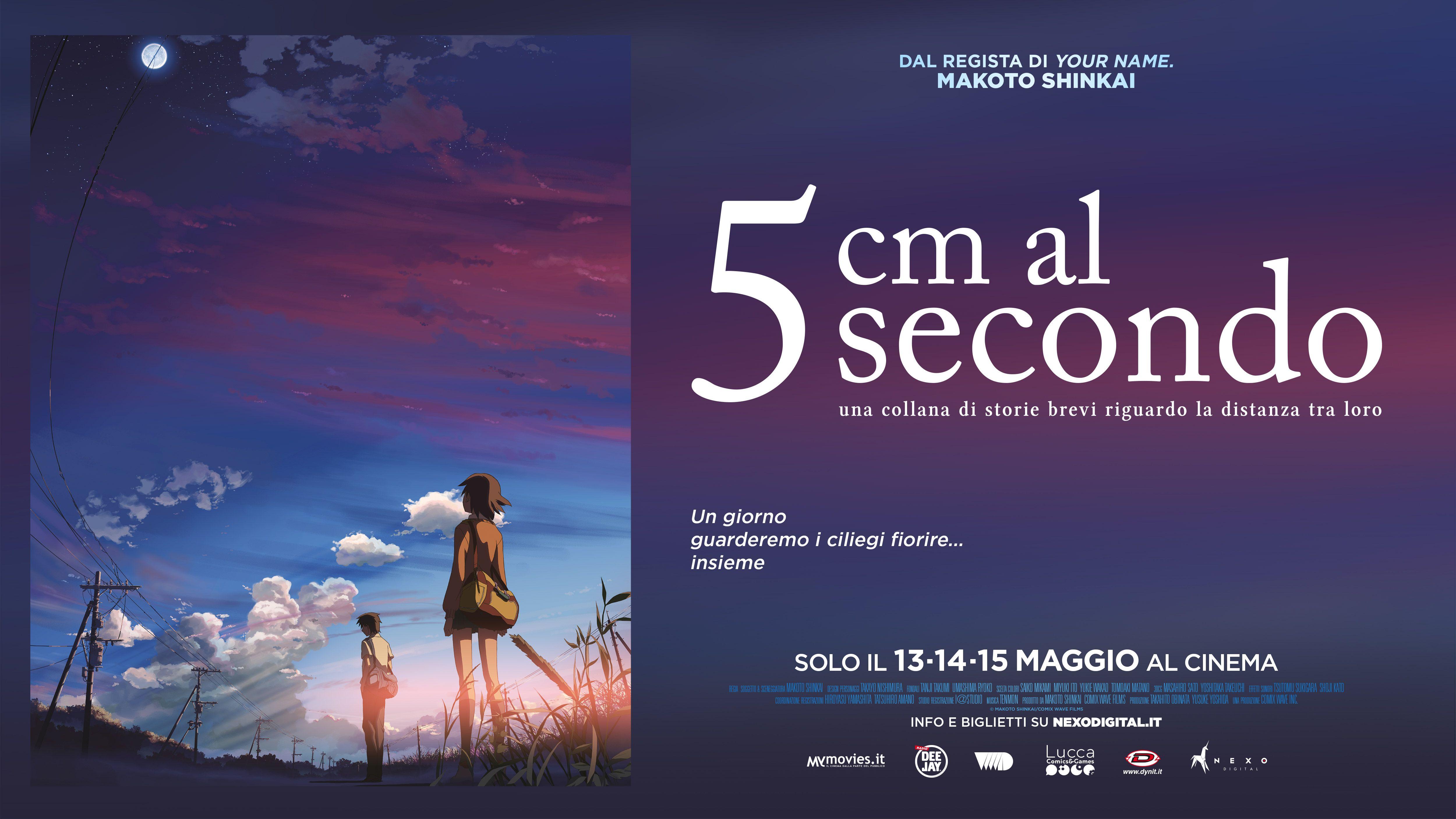 """Shinkai torna al cinema dopo Your Name con """"5 CM AL SECONDO"""" solo dal 13 al 15 maggio. Guarda la clip in esclusiva!"""