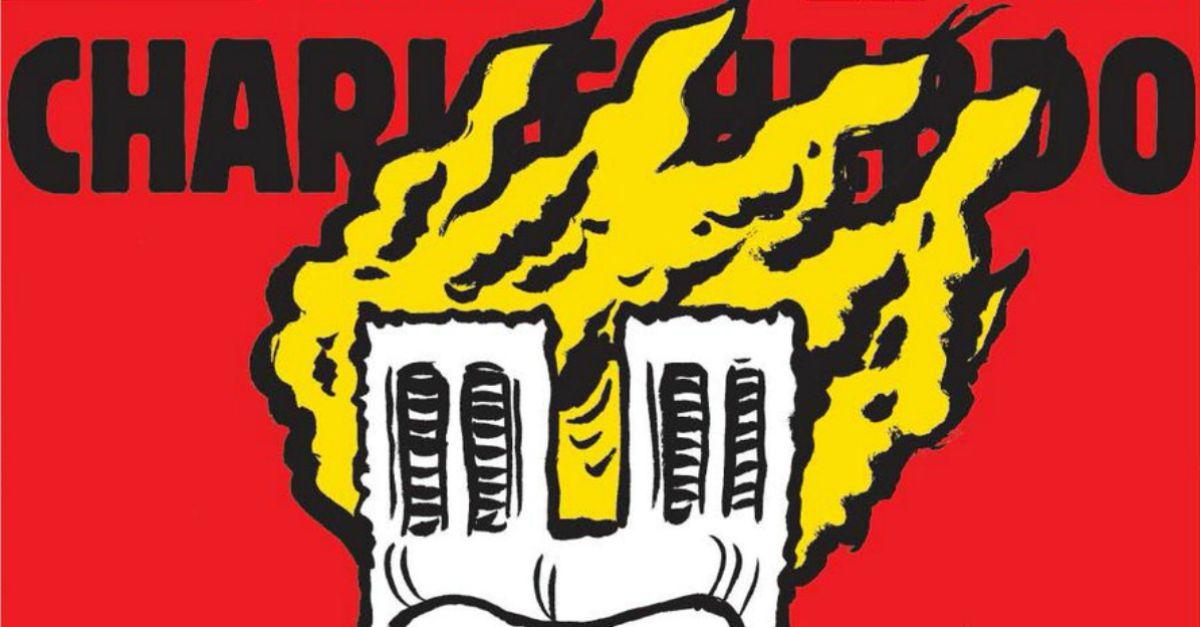 Charlie Hebdo: la vignetta satirica sull'incendio di Notre-Dame