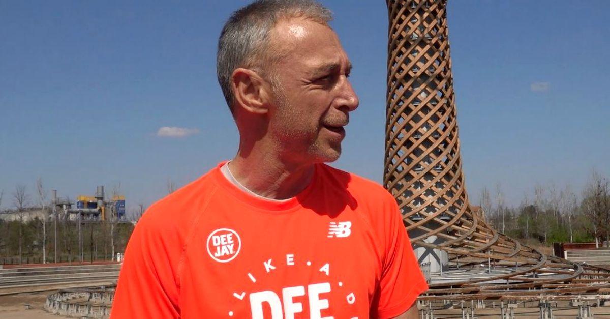 Festa della radio: Linus prova il percorso di 5 km della corsa in programma il 22 giugno