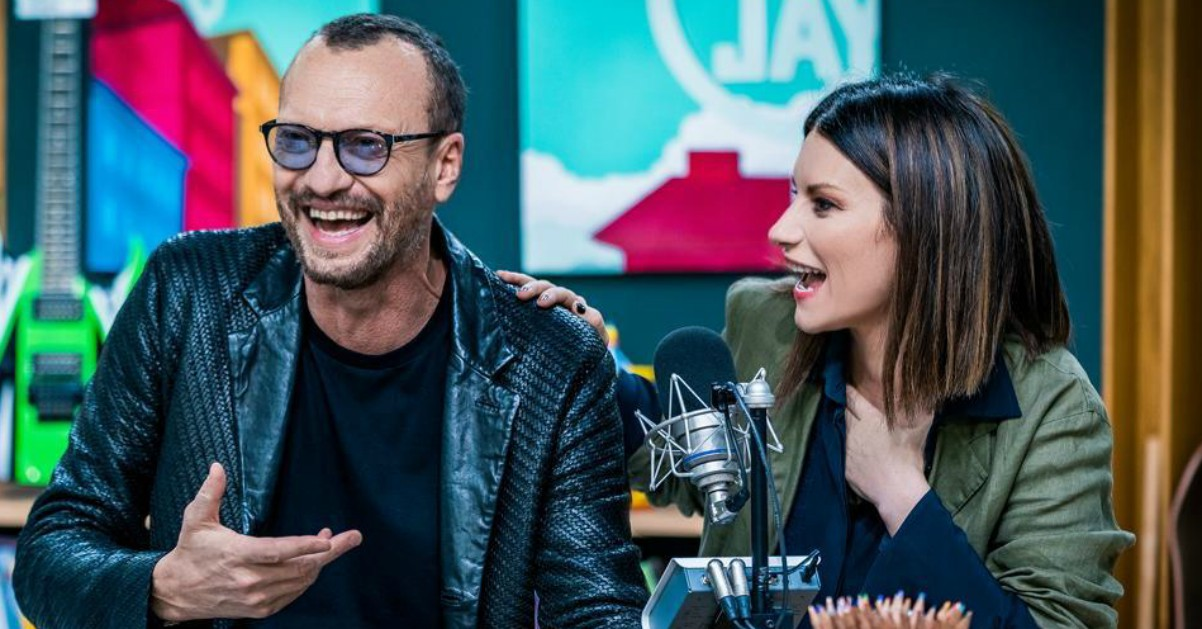 Biagio e Laura, complicità e risate a Deejay Chiama Italia