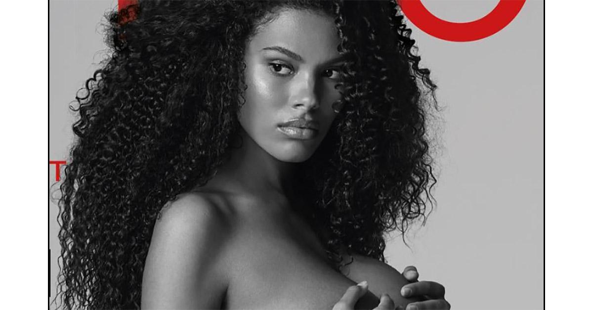 Tina Kunakey posa completamente nuda col pancione: la copertina della moglie di Vincent Cassel
