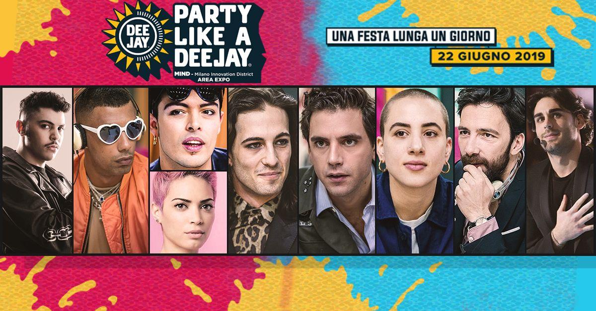 Party like a Deejay: tutti gli ospiti musicali e gli show in programma alla festa di Radio DEEJAY