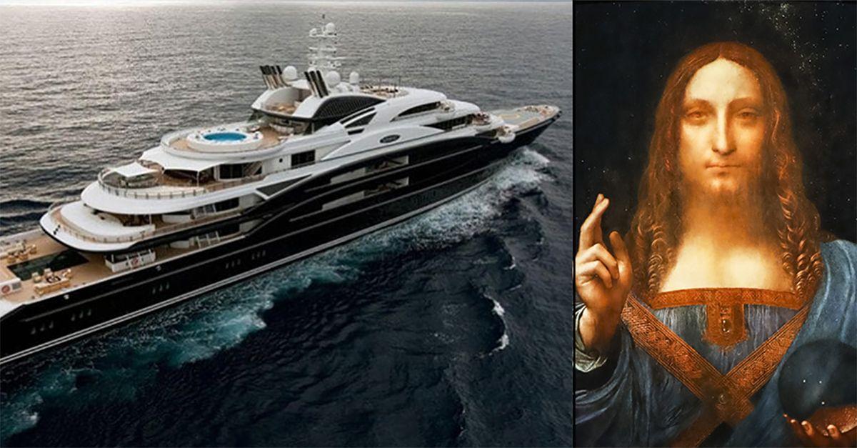 """Mistero """"Salvator Mundi"""", il dipinto di Leonardo sarebbe sul mega yacht di un principe saudita"""