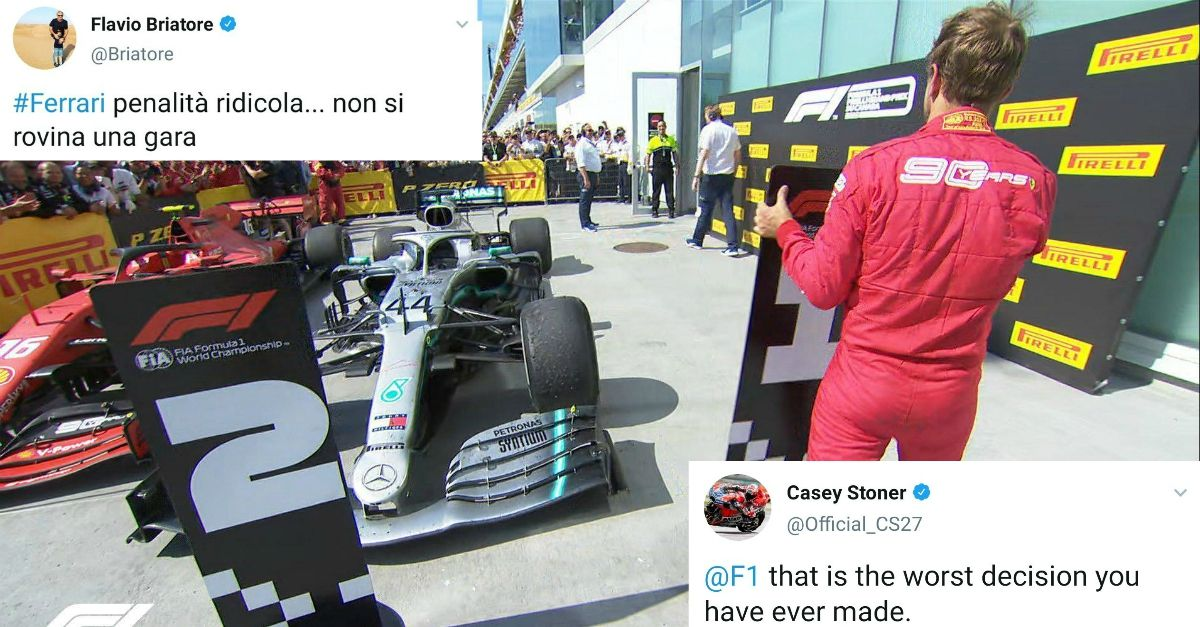 Il mondo delle corse è con Vettel: i messaggi di colleghi e piloti contro la penalità