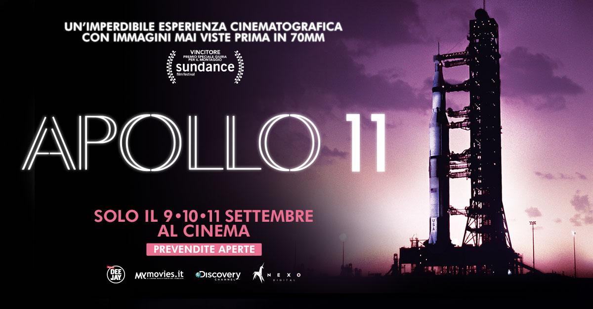 Apollo 11. Il racconto dell'epico viaggio lunare, al cinema