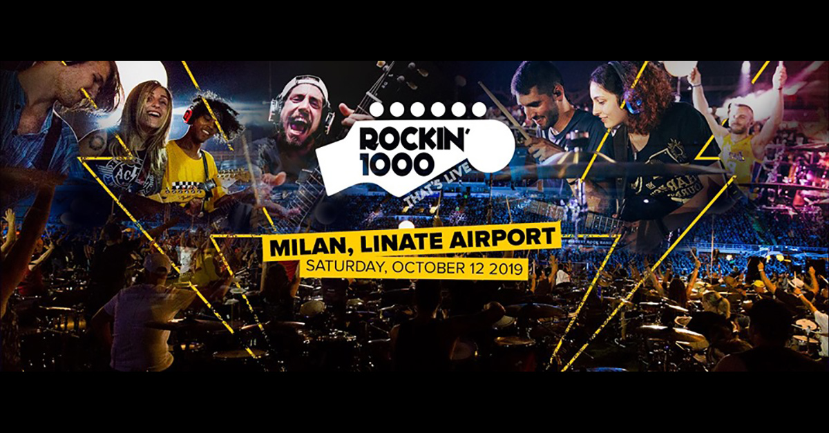 Rockin'1000 annuncia un nuovo show all'Aereoporto di Linate: si volaaa!