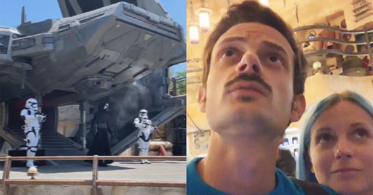"""Rovazzi e Kokeshi nel parco di Star Wars a Disneyland: """"Siamo a bordo del Millennium Falcon!"""""""