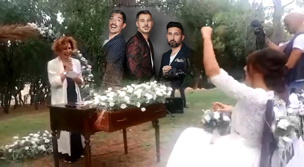 """Discorso agli sposi coi tormentoni del Trio Medusa: il video arrivato a """"Chiamate Roma"""""""