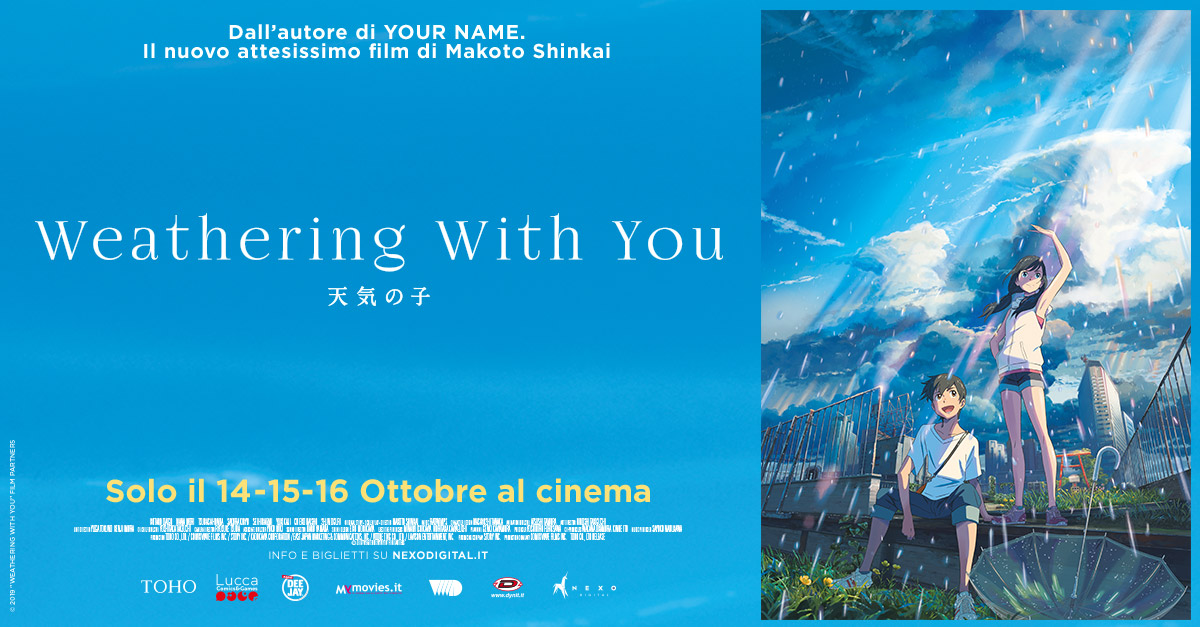 Weatering with you al cinema dal 14 al 16 ottobre