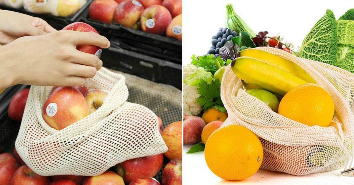 Ecco i sacchetti riutilizzabili per comprare frutta e verdura