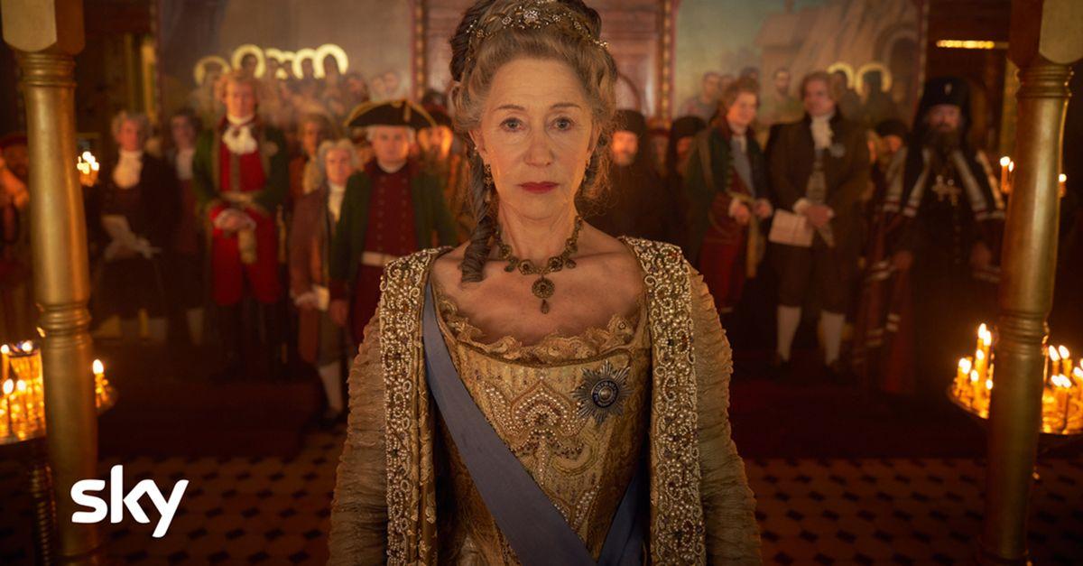 Caterina la Grande, la nuova serie Sky Original con Helen Mirren