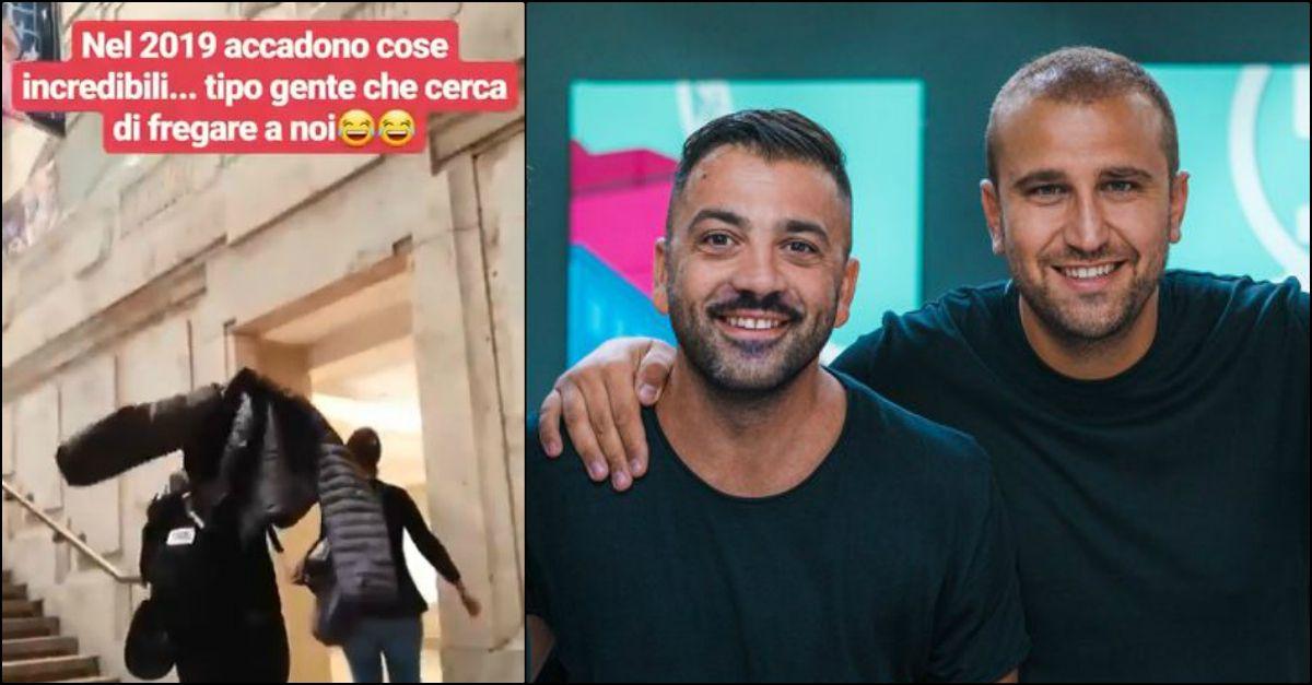 """Pio e Amedeo vittime di tentato furto postano un video della """"Signorina"""" presunta ladra"""