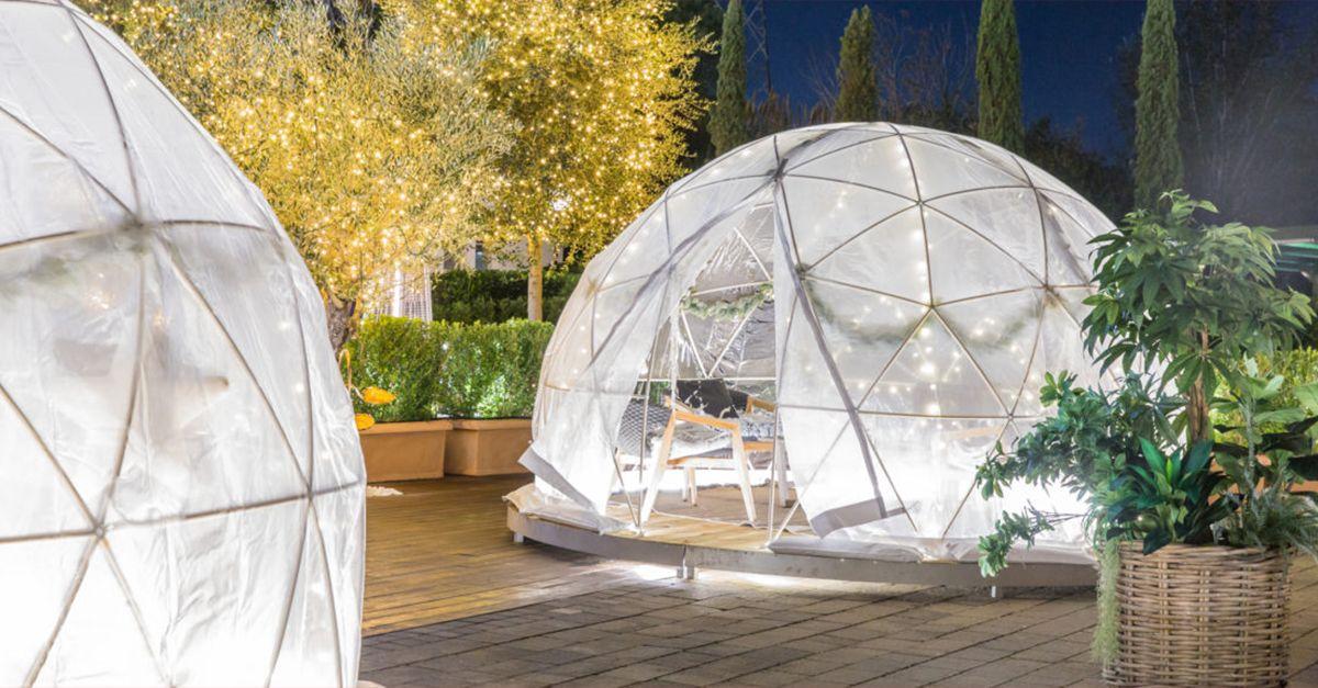 Roma, da oggi potete fare un aperitivo in un igloo sotto le stelle