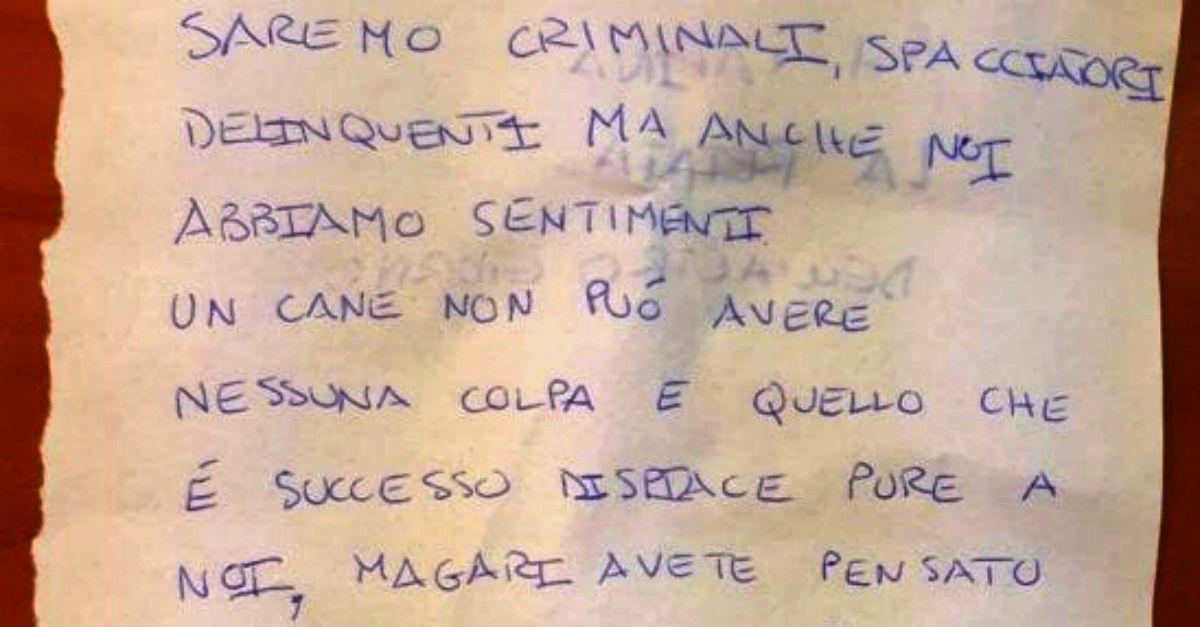 Vicenza, la lettera degli spacciatori alla polizia per la morte del cane antidroga