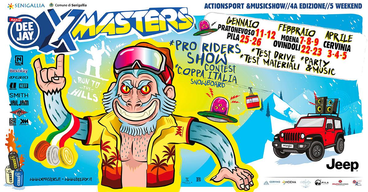 DEEJAY Xmasters Winter Tour: ecco le date (e le location) del 2020