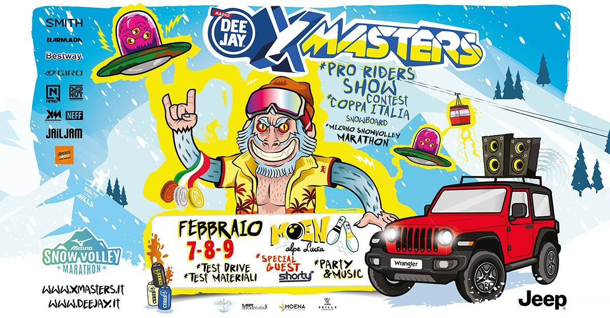 Deejay Xmasters arriva a Moena il 7, 8, e 9 febbraio: una tappa ricca di attività ed ospiti speciali!