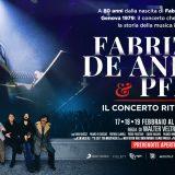 """""""Fabrizio De André e PFM. Il concerto ritrovato"""" arriva al cinema"""