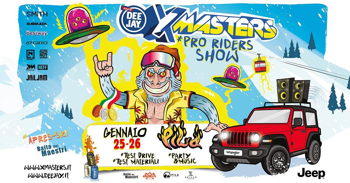 Si avvicina la seconda tappa di Deejay Xmasters Winter Tour, destinazione: Pila! Vi aspettiamo.