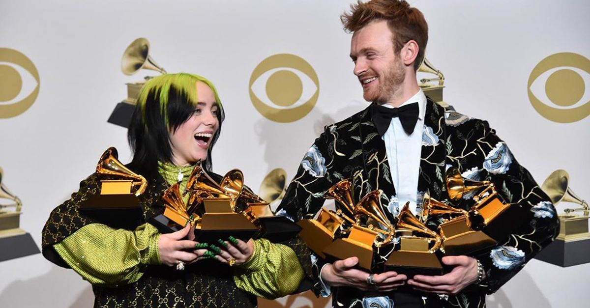 Grammy Awards, ecco i top 5 del 2020: Billie Elish sbanca con 7 premi