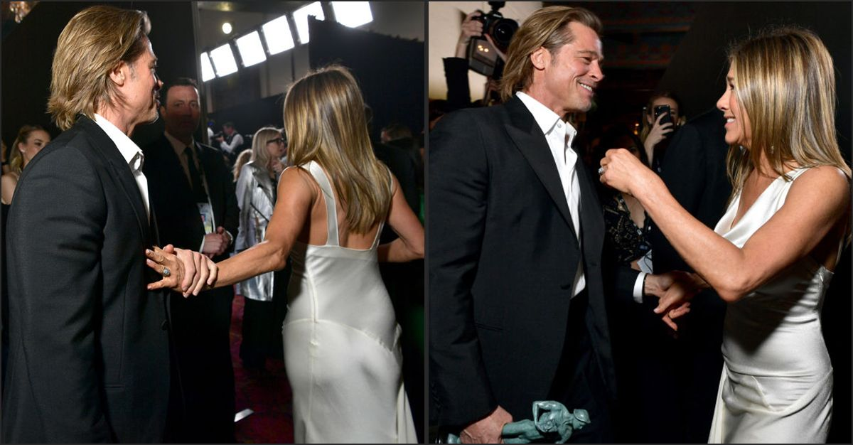 Brad Pitt e Jennifer Aniston: baci, abbracci e carezze. L'incontro fa sognare i fan
