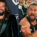 Golden Globe, la trasformazione di Jason Momoa: entra con la giacca elegante ed esce in canottiera