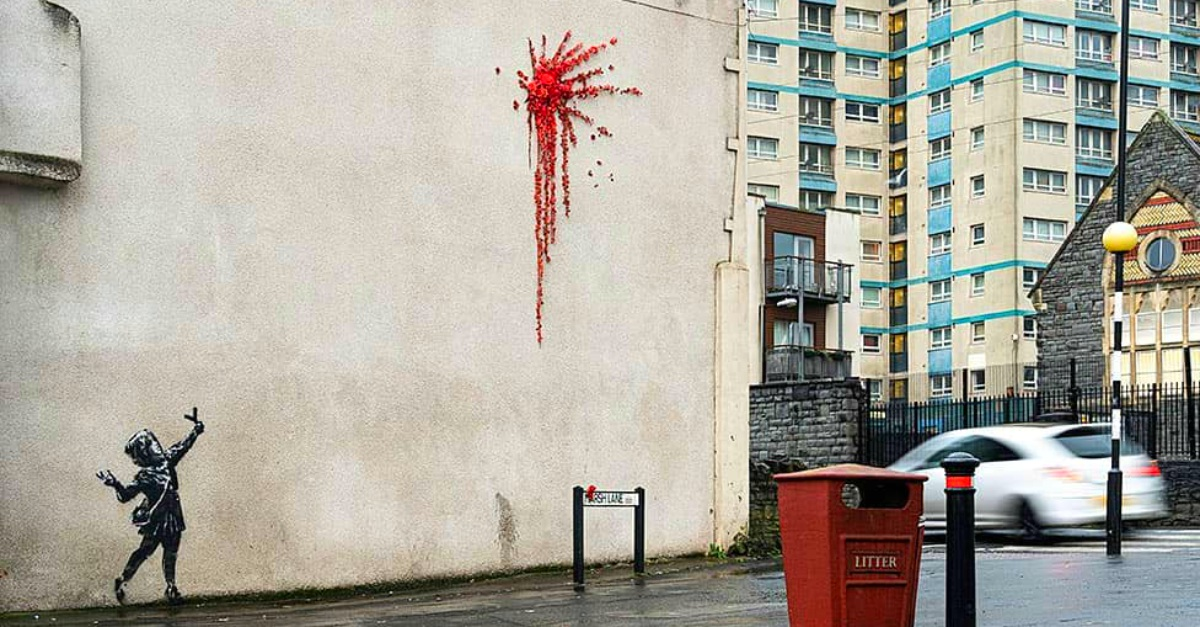 Banksy uccide Cupido a San Valentino: la nuova opera comparsa su un muro di Bristol