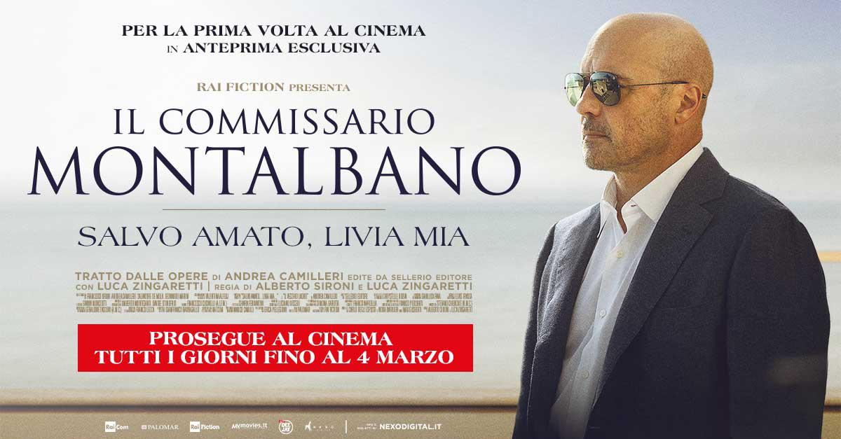 Il Commissario Montalbano per la prima volta al cinema fino al 4 marzo
