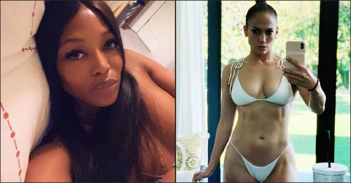 Topless e bikini perfetto, Naomi Campbell e Jennifer Lopez seducono i fan su Instagram