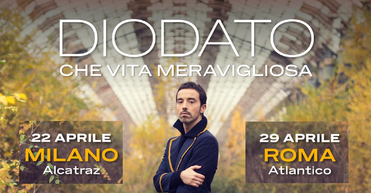 Diodato annuncia due nuove date: sarà live a Roma e a Milano