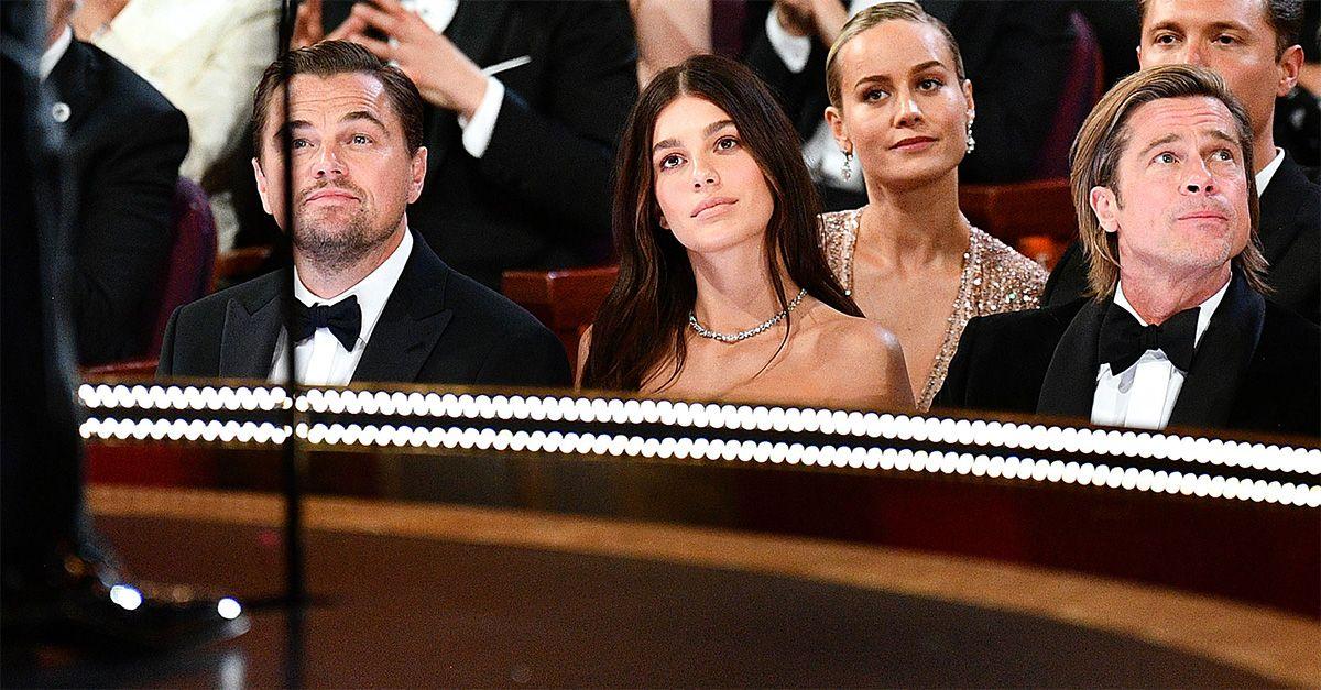 Oscar 2020, il debutto della fidanzata di DiCaprio: in prima fila tra Leo e Brad Pitt