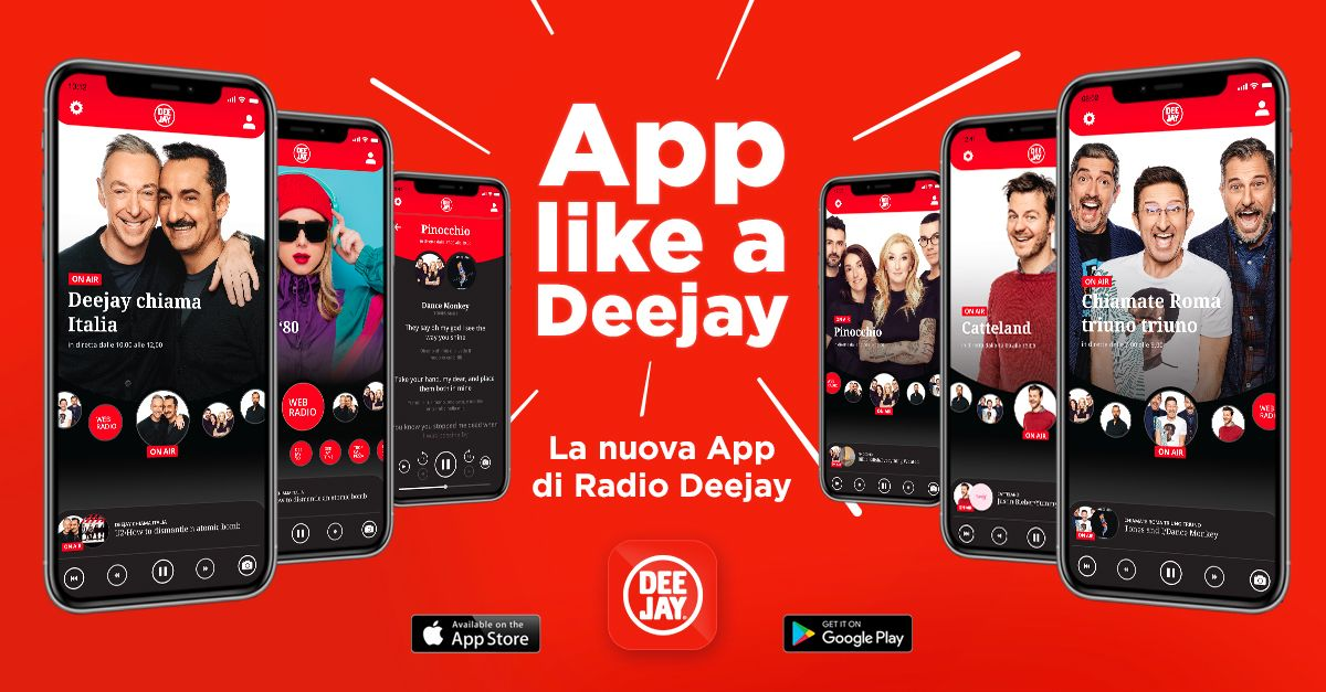 La nuova app di Radio DEEJAY ha tutte le funzioni che desideri e nuovi podcast esclusivi