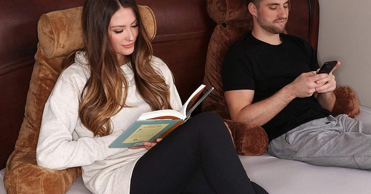 Il cuscino da lettura è un must have della quarantena