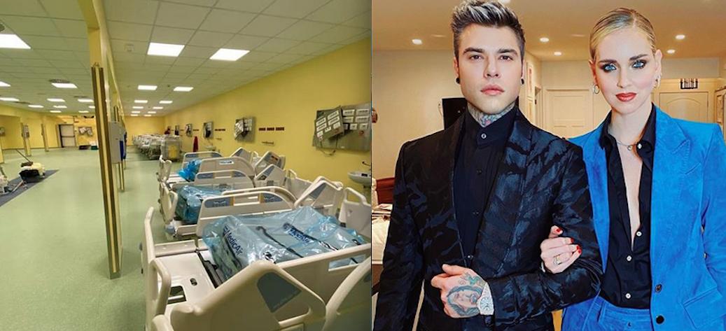 Fedez mostra le immagini del nuovo reparto di terapia intensiva del San Raffaele
