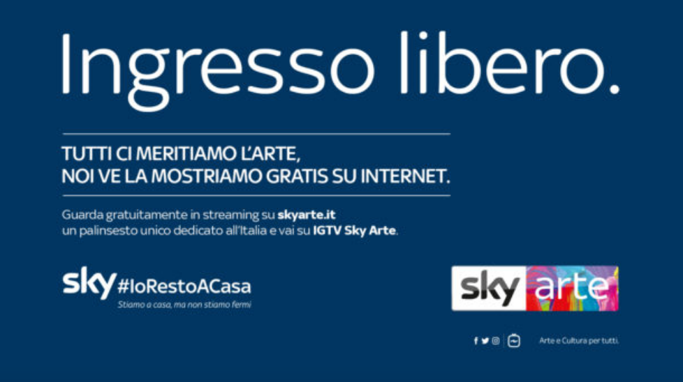 Il meglio di Sky Arte in streaming gratis per tutti