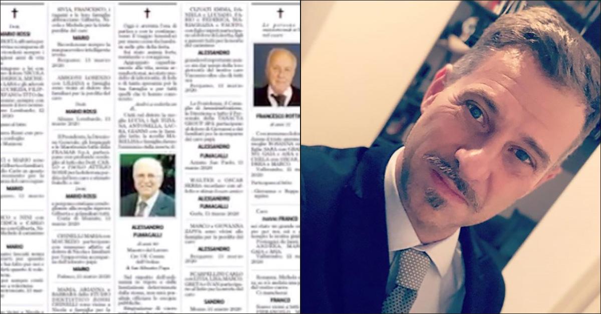 """""""Era mio padre… Quelli che, per qualcuno, sono 'muoiono solo i vecchi'"""": le commoventi parole di Gabriele Corsi"""