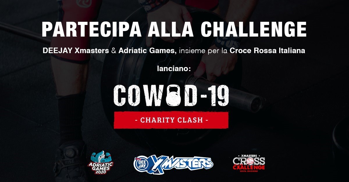 DEEJAY Xmasters & Adriatic Games lanciano COWOD-19: insieme per la Croce Rossa Italiana
