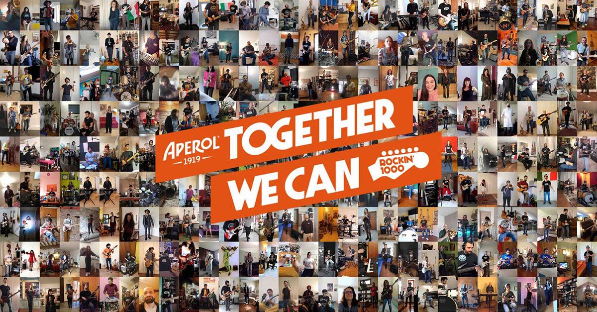 Together we can: Aperol e Rockin'1000 insieme per sostenere la Protezione Civile