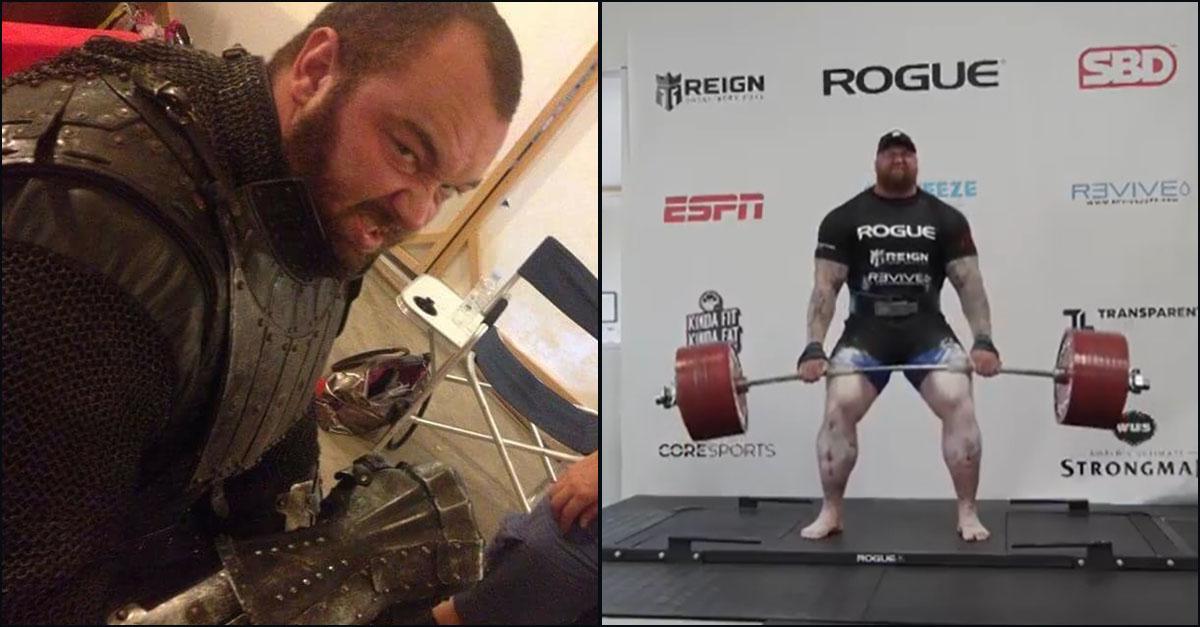 """Pesi. """"La Montagna"""" solleva 501 kg: l'attore di Game of Thrones batte il record del mondo"""