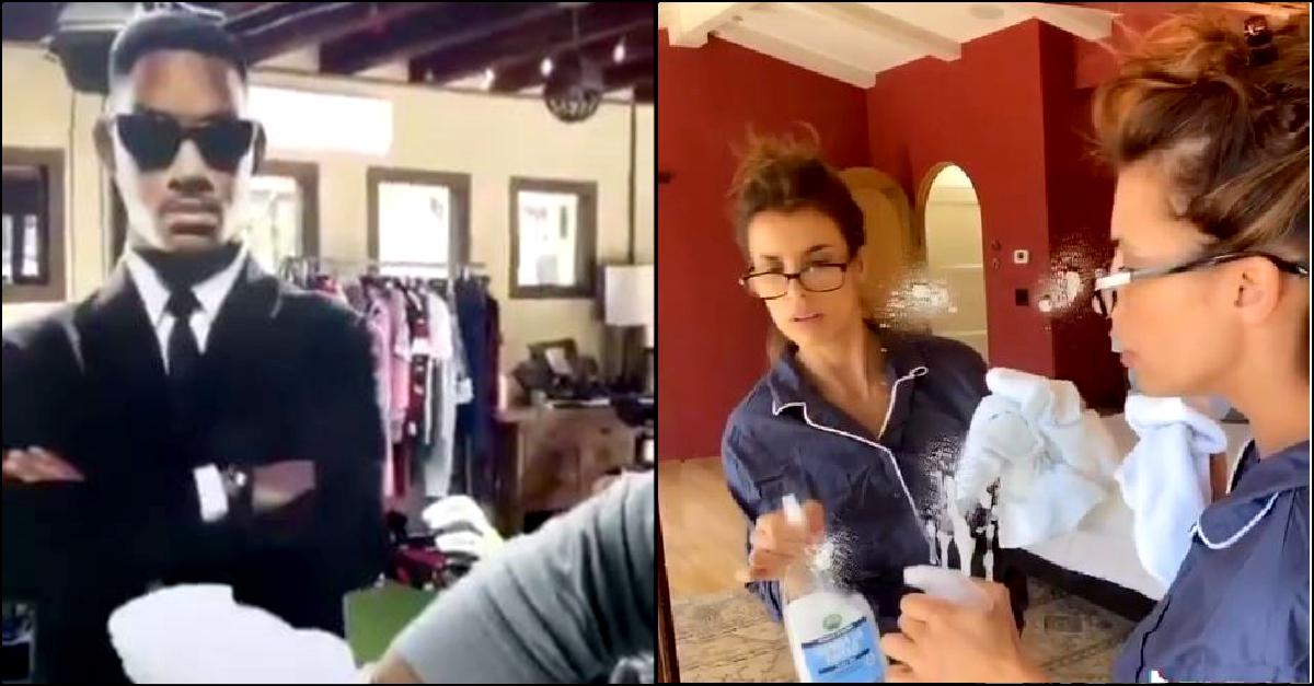 Will Smith ed Elisabetta Canalis puliscono lo specchio su Tik Tok: ecco cosa succede
