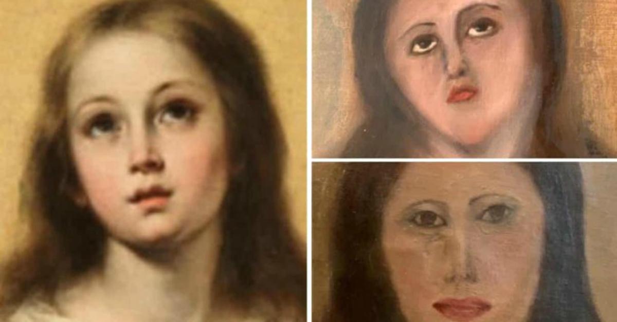 """Ennesimo restauro flop in Spagna. L'appello del Trio Medusa: """"Affidatevi agli italiani"""""""