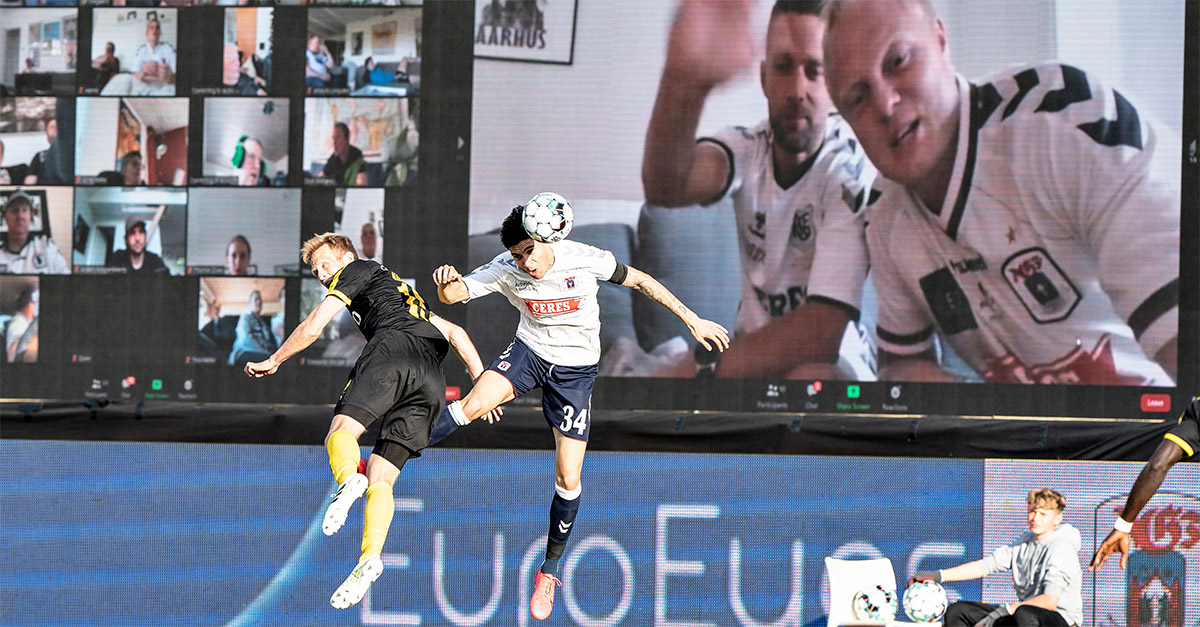 Coronavirus, tifosi sugli spalti dello stadio con Zoom: l'idea della squadra danese