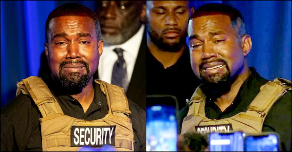 """Kanye West scoppia in lacrime al suo primo comizio: """"Ho quasi ucciso mia figlia"""""""