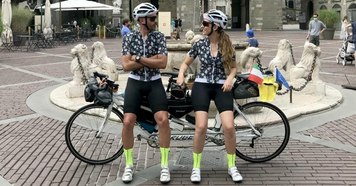 Laura e Stefano partono oggi per fare 3000 Km in Tandem: ecco dove vogliono arrivare