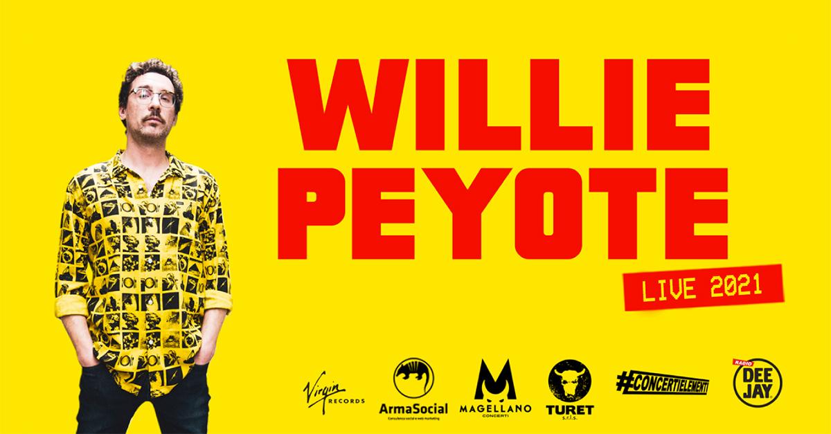 Le nuove date nei club di Willie Peyote: appuntamento ad aprile 2021