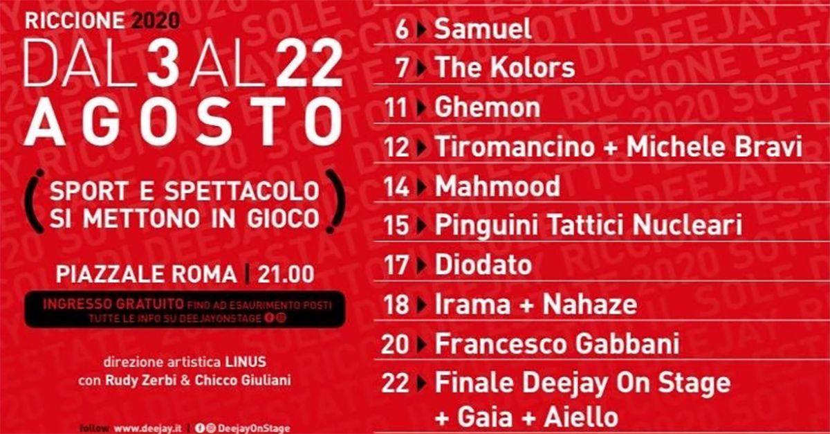 """Riccione, al via le serate di """"Deejay on Stage"""": il calendario"""