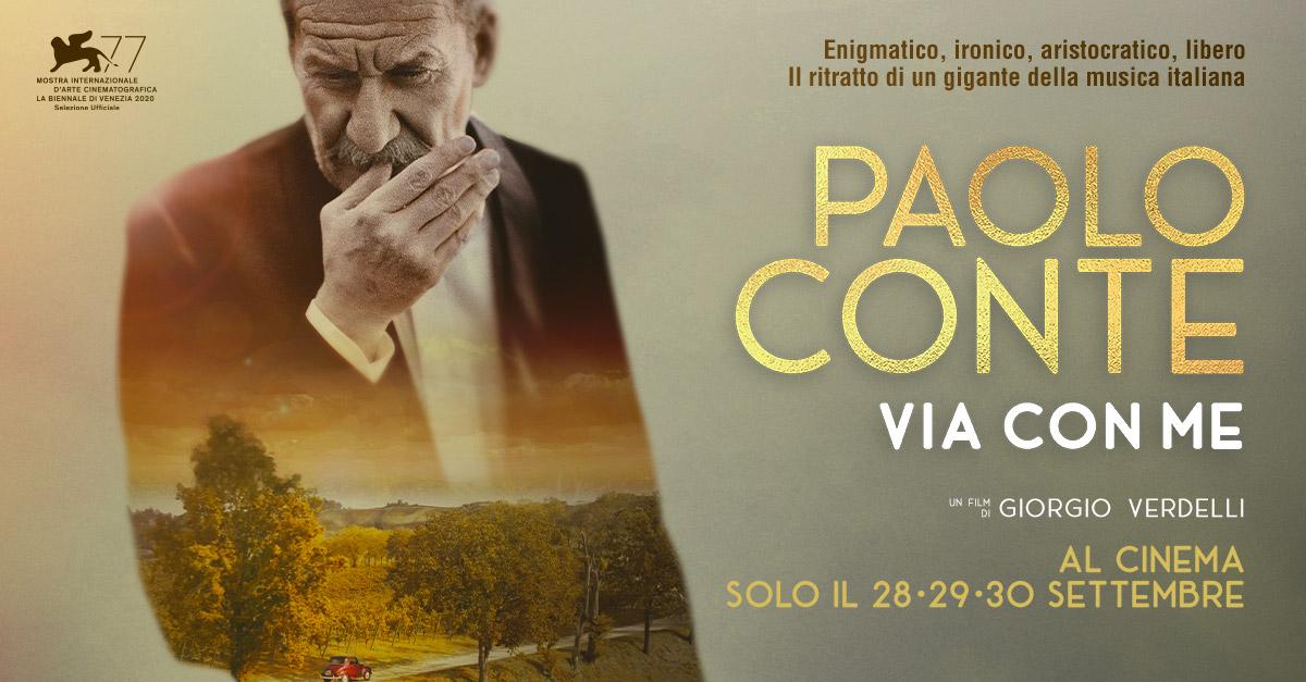 """""""Paolo Conte, via con me"""" il film evento su uno dei più grandi autori della musica italiana"""