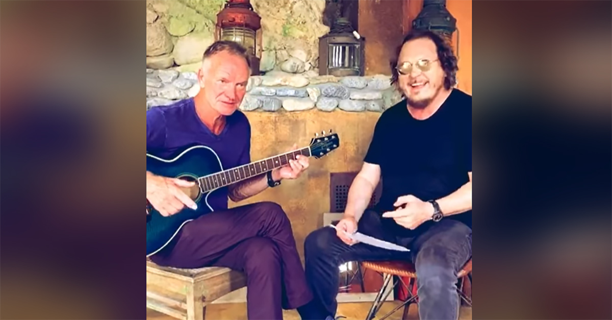 """All'improvviso 'Fields of gold' in italiano"", Sting e Zucchero duettano in Toscana"